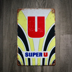 Super U Fignon Tin Retro Cycling Sign