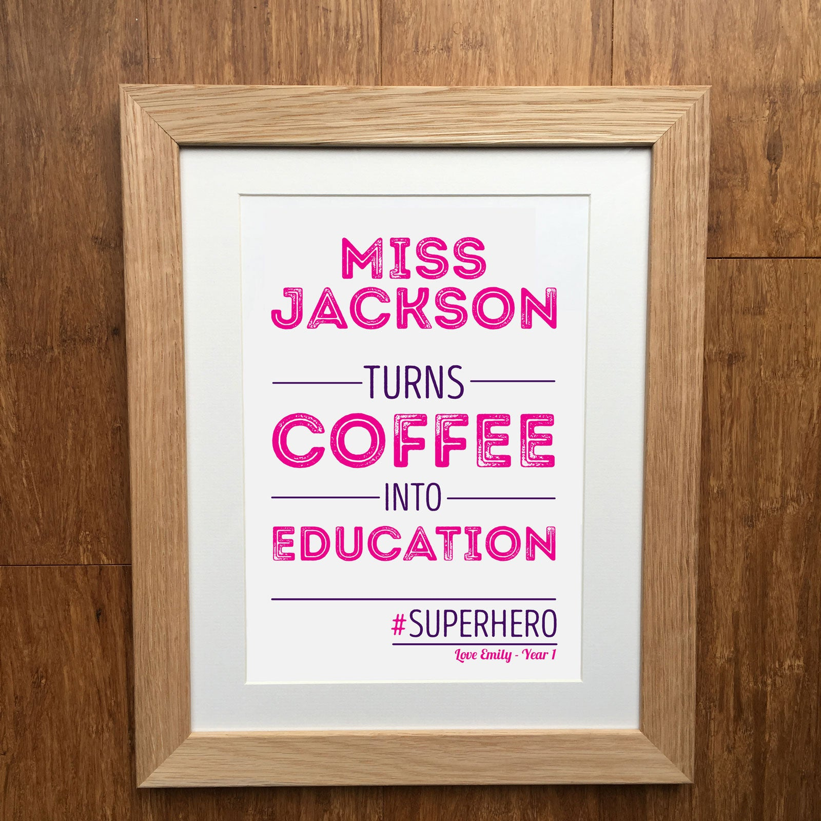 super hero teacher personalised print - Teacher Pictures To Print