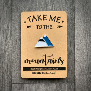 Mountains Enamel Pin Badge - Bold