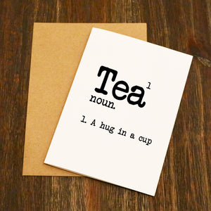 Tea Dictionary Greetings Card