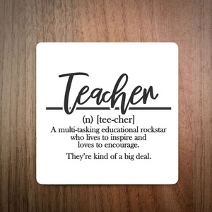 Dictionary Definition Teacher Coaster