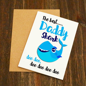 The Best Daddy Shark Doo Doo Doo Gift Set & Card