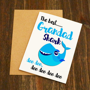 The Best Grandad Shark Doo Doo Doo Card