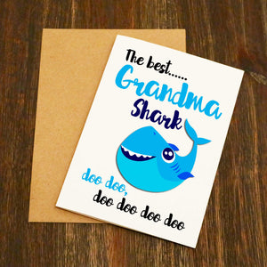 The Best Grandma Shark Doo Doo Doo Card