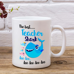 The Best Teacher Shark Doo Doo Doo Mug