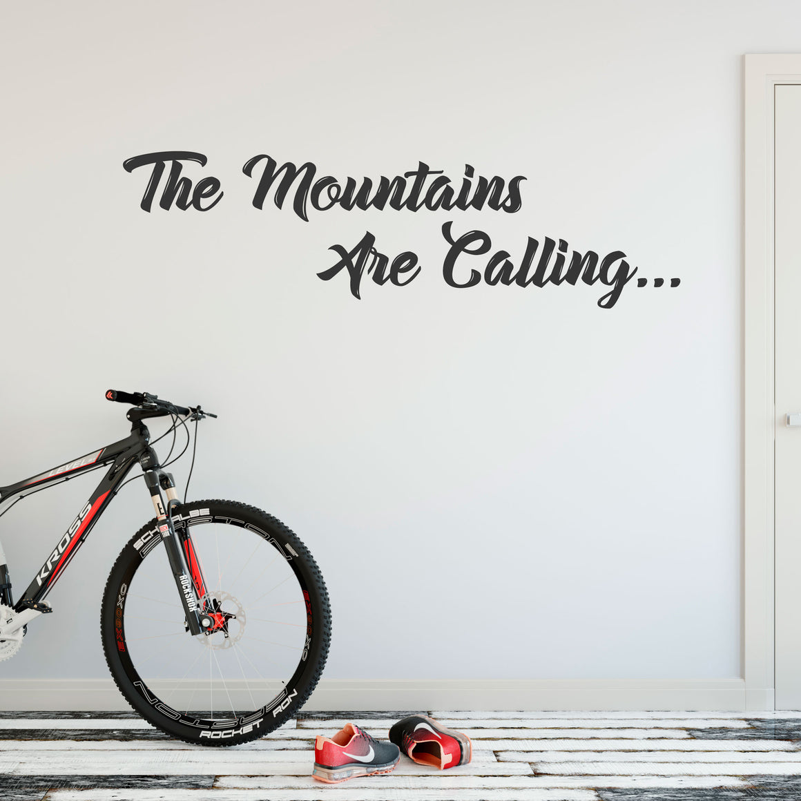 The Mountains Are Calling Vinyl Wall Art