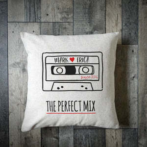 The Perfect Mix Tape Personalised Cushion