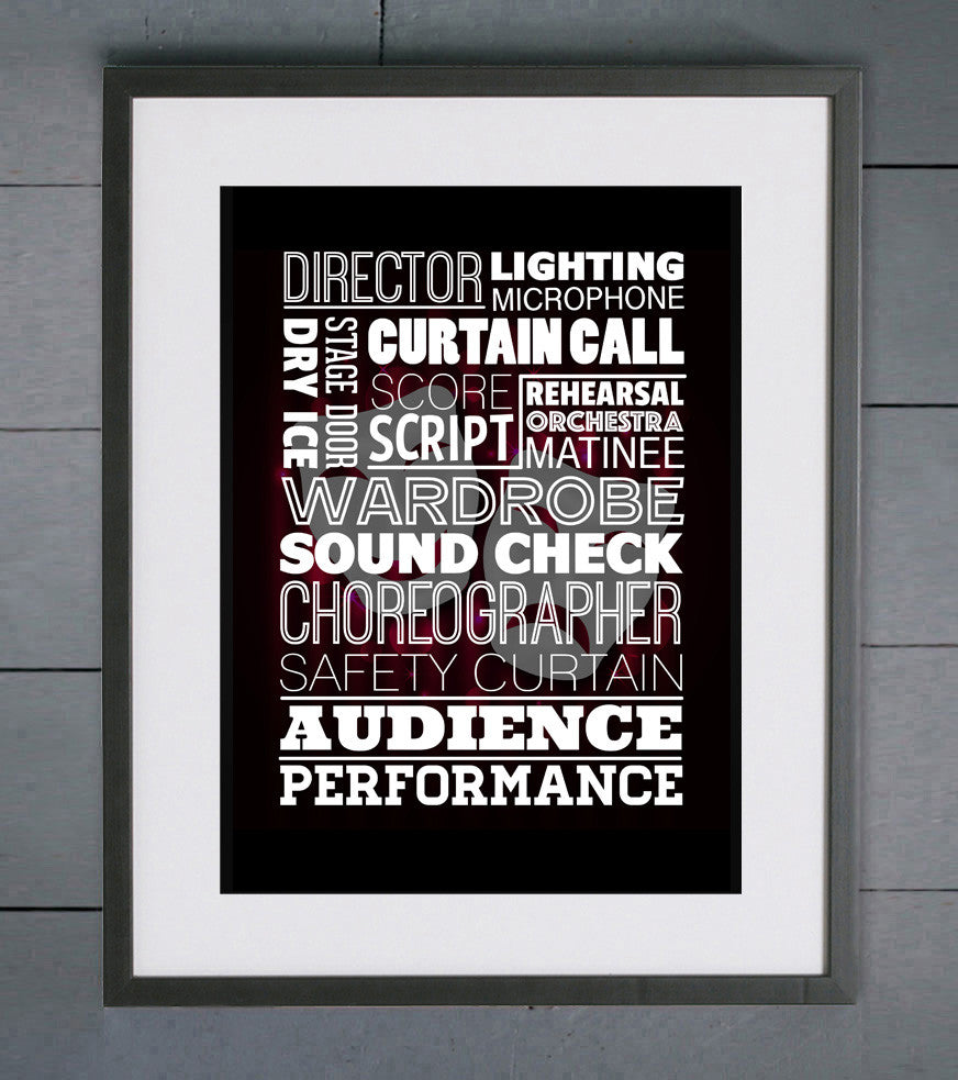 Theatre Showtime Word Art Print