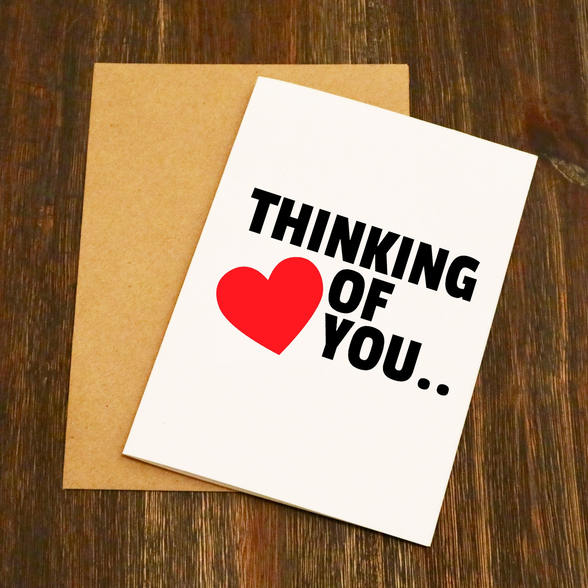 Thinking Of You Funny Valentines Card Elliebeanprints