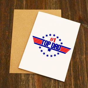 Top Dad - Top Gun Card