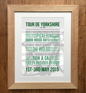 Tour De Yorkshire 2015 Cycling Print