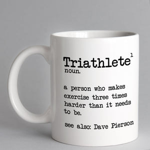 Personalised Triathlete Dictionary Mug