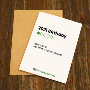 Birthday Advisor (Tripadvisor) Style Funny Birthday Card
