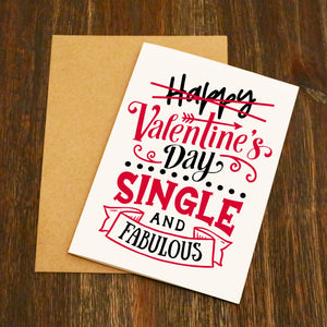Single and Fabulous Valentine's Card