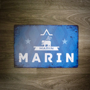 Classic Marin Bikes Tin Retro Cycling Sign