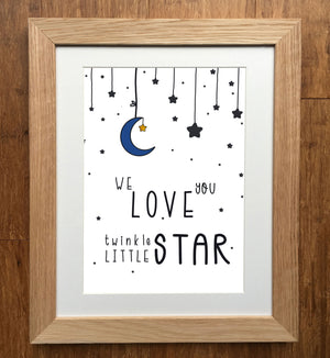 Twinkle Little Star Nursery Print