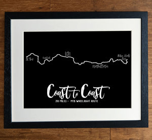 Coast To Coast Wheelwright's MTB Route Print