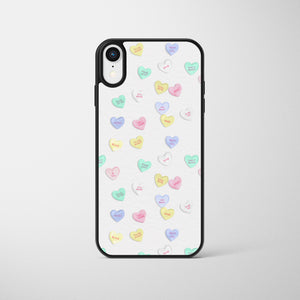 White Love Heart Sweets Phone Case