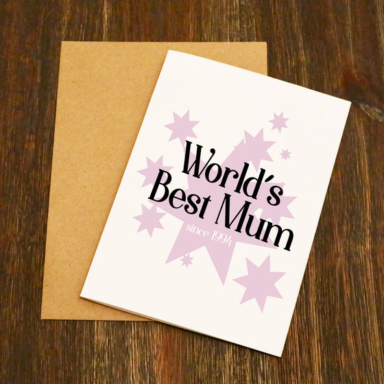 World's Best Mum Personalised Mother's Day Card