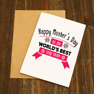 World's Best Step Mum Mother's Day Card