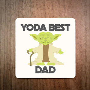 Yoda Best Daddy Coaster