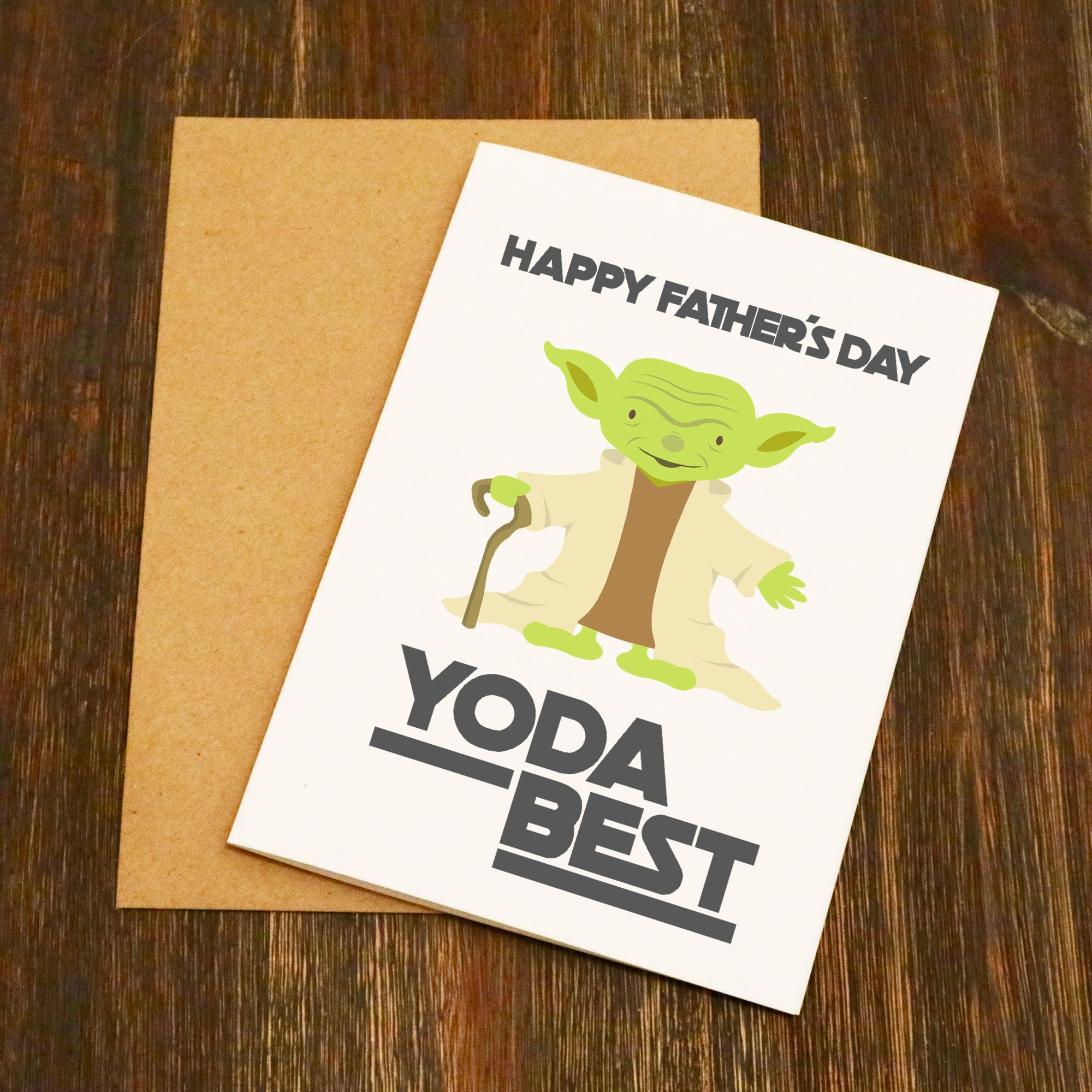 Happy Fathers Day Yoda Best Fathers Day Card Elliebeanprints