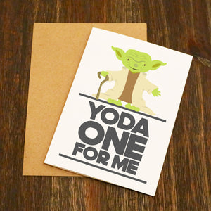 Yoda One For Me Valentine's Card