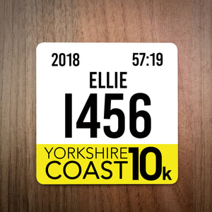 Yorkshire Coast 10K Race Bib Coaster 2018