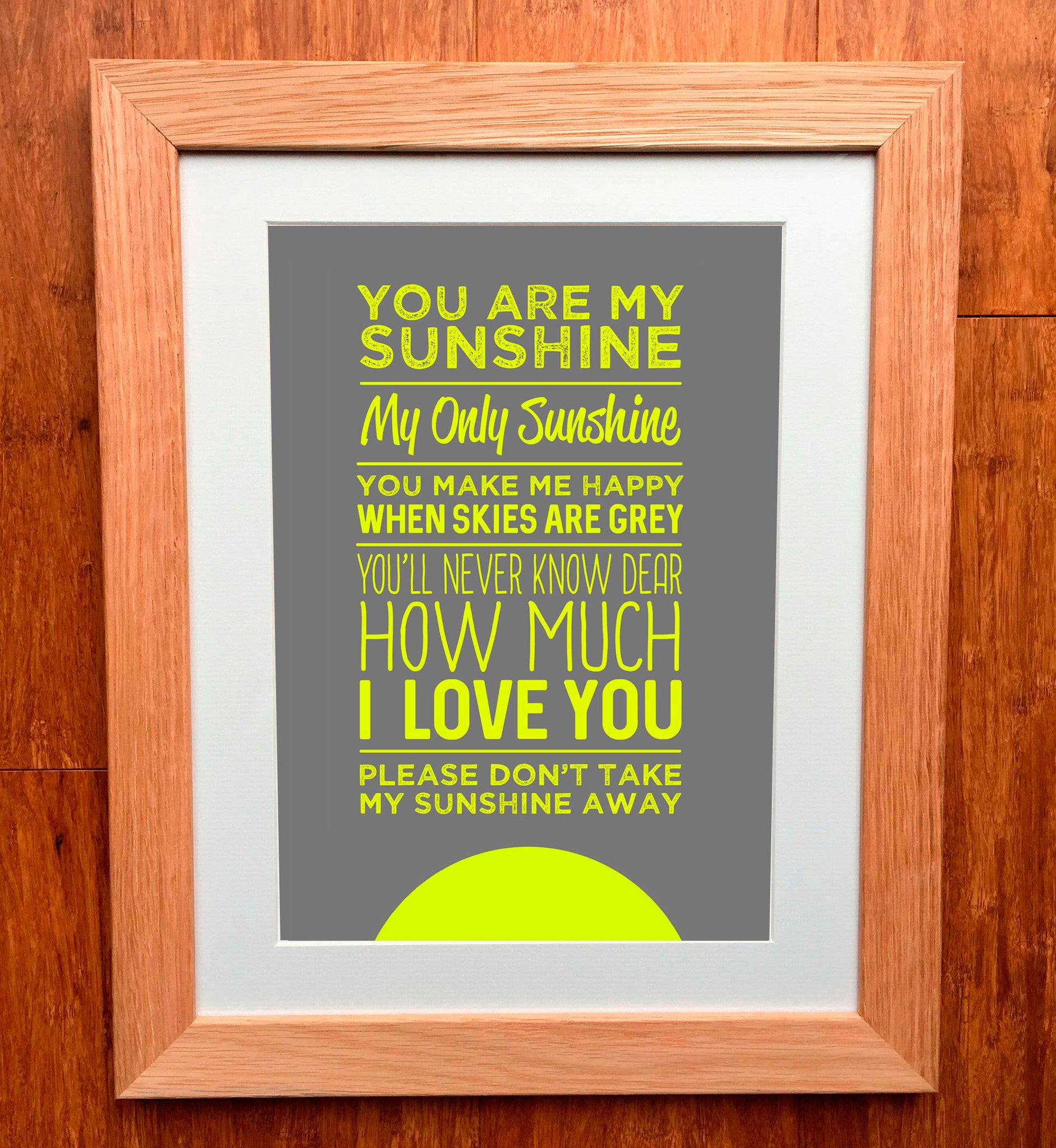 you are my sunshine print - You Are My Sunshine Frame