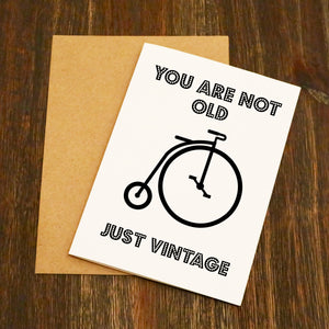 You Are Not Old Just Vintage - Birthday Card