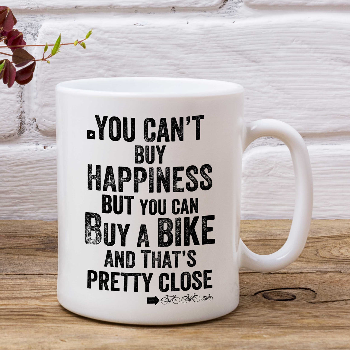 You Can't Buy Happiness But You Can Buy A Bike Cycling Mug