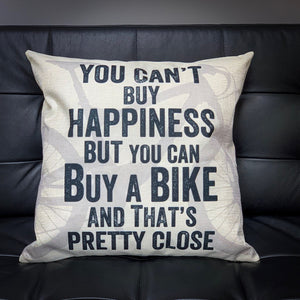 You Can't Buy Happiness Mountain Bike Cycling Cushion Cover