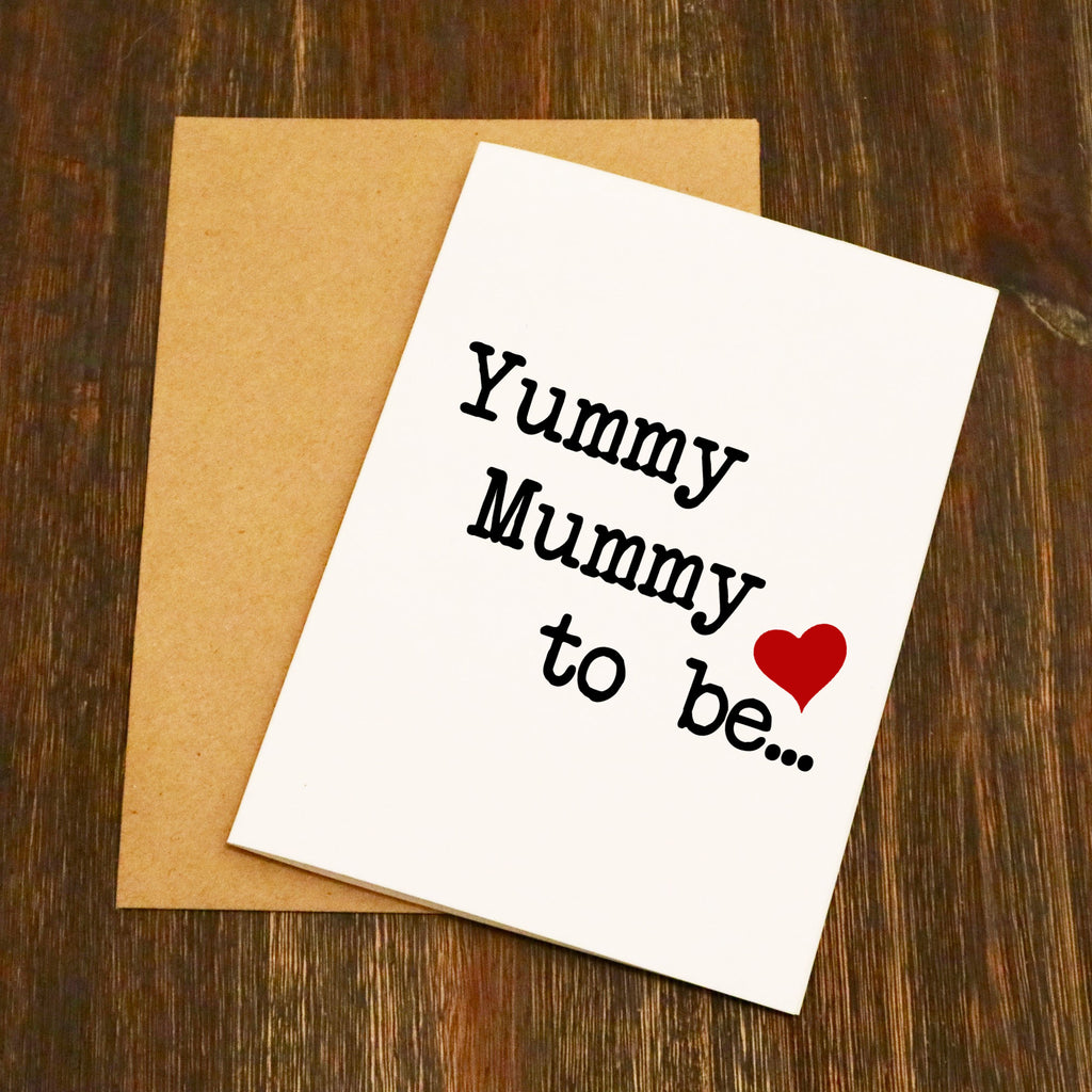Yummy Mummy to be... Greetings Card