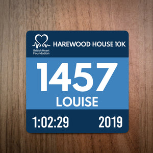 Harewood House 10K Race Bib Coaster 2019
