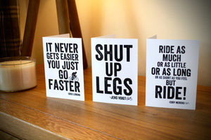 Cycling Greetings Cards - Multi-Pack - 3 Cards - Your Choice
