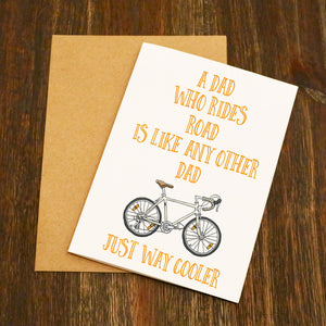 Road Bike Dad Father's Day Card