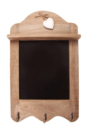Farmhouse Scalloped Chalkboard With Hooks