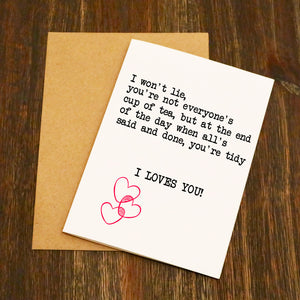 I Loves You Gavin & Stacey Quote Funny Valentine's Card