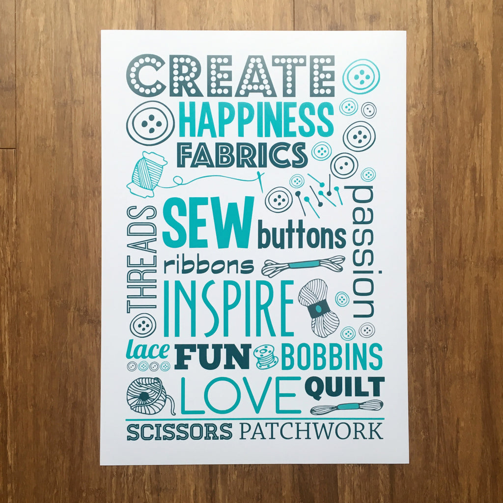Create Sewing Craft Print