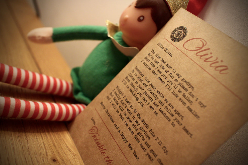 Elf - Personalised Good Bye Poem Postcard