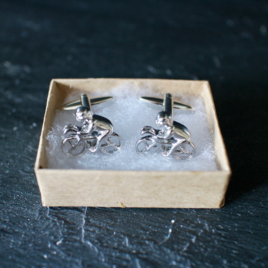 Road Bike Cycling Cufflinks