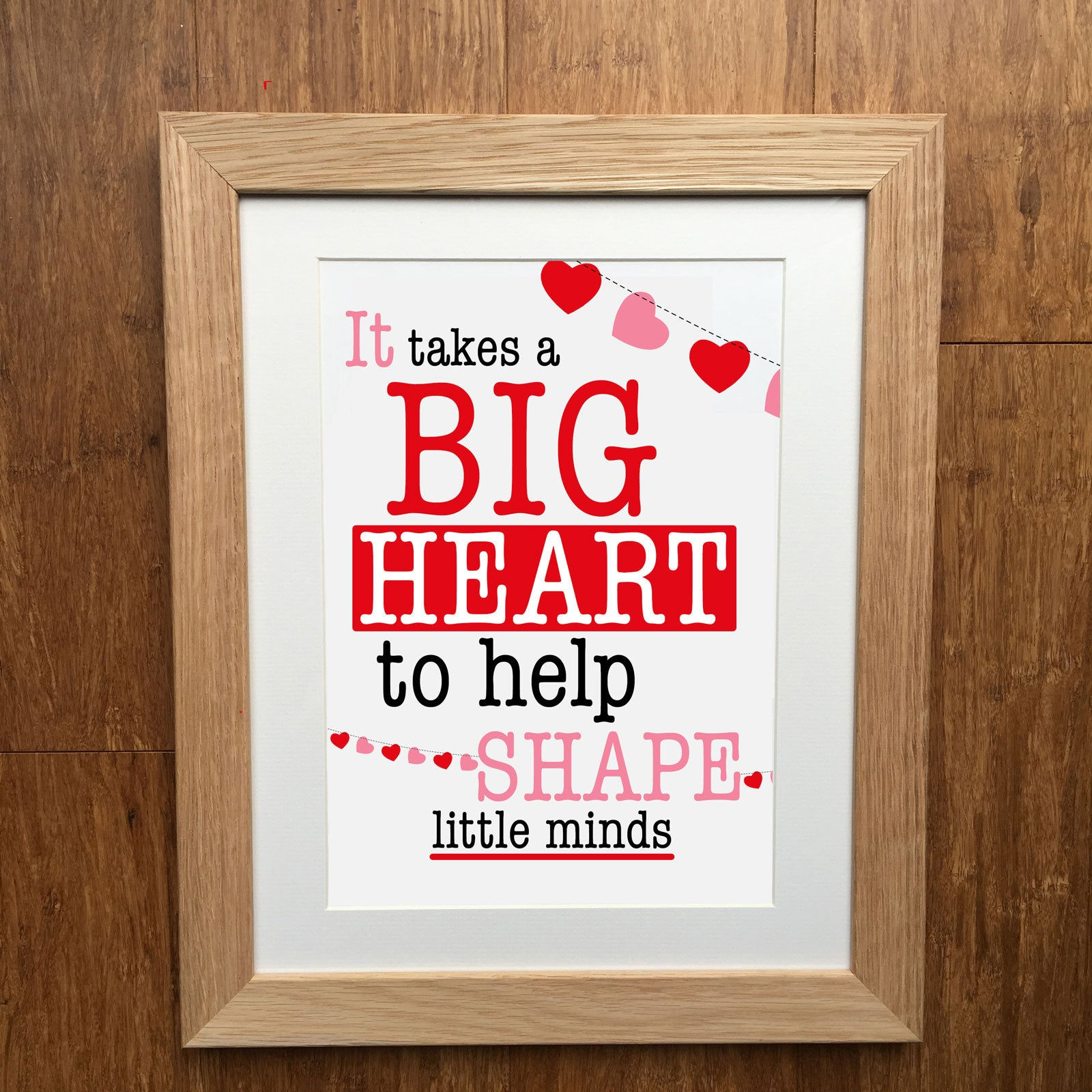 picture relating to It Takes a Big Heart to Shape Little Minds Printable identified as It Will take A Significant Center Towards Form Tiny Minds Instructor Print