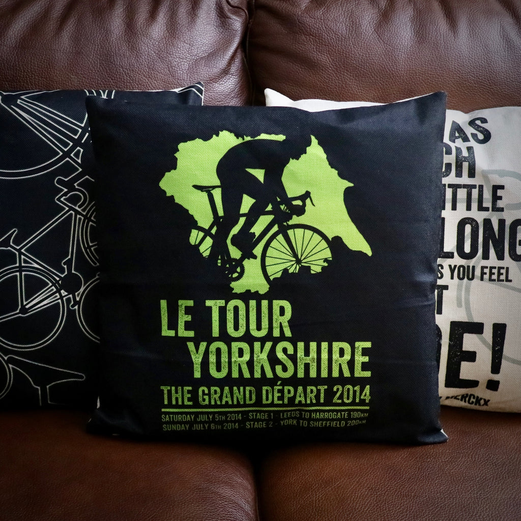Le Tour Yorkshire Cycling Cushion Cover