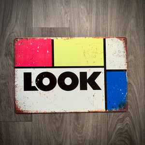 Look Classic Tin Retro Cycling Sign