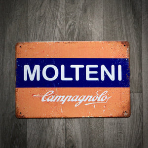Molteni Campagnolo Tin Retro Cycling Sign