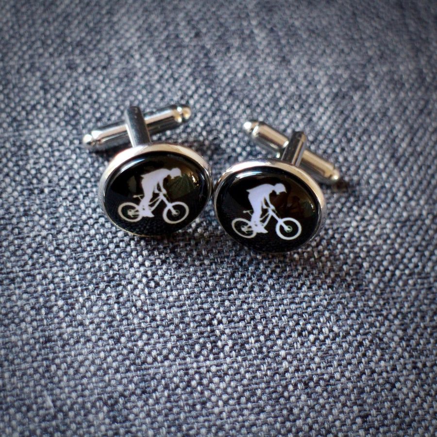 Mountain Bike Cycling Cufflinks