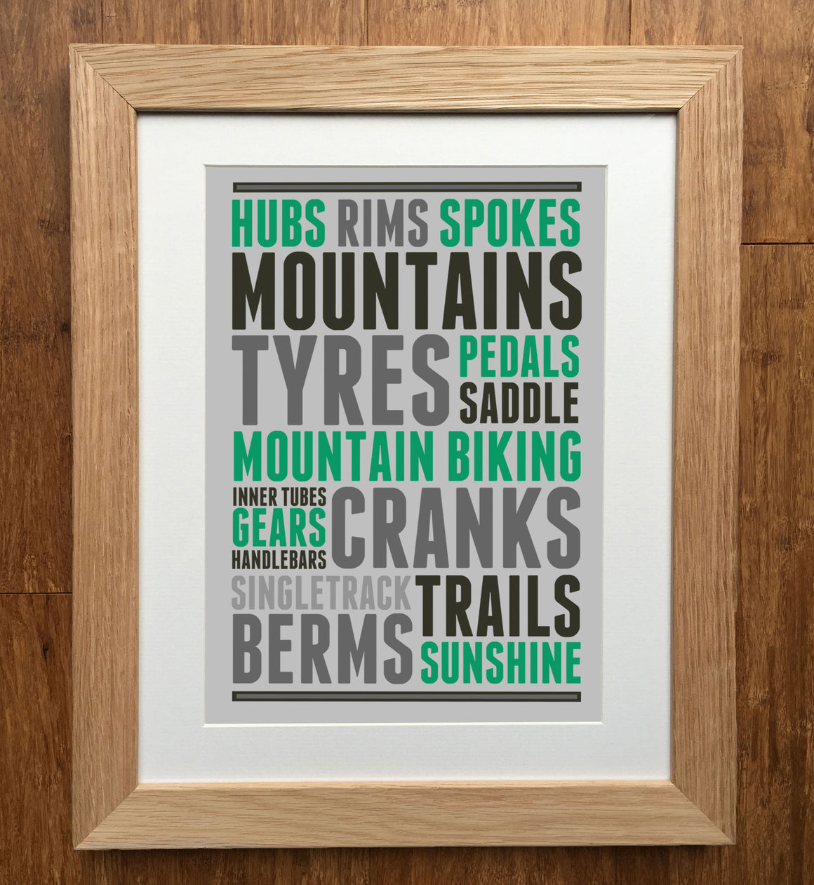 Mountain Bike Thoughts Print