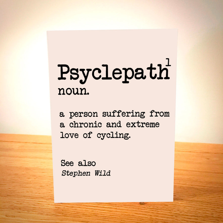 Psyclepath Personalised Cycling Card