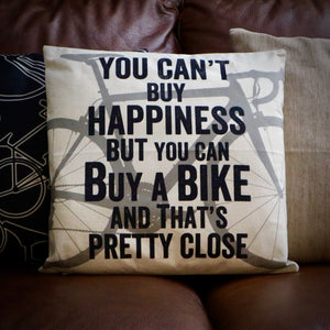 You Can't Buy Happiness Road Bike Cycling Cushion Cover