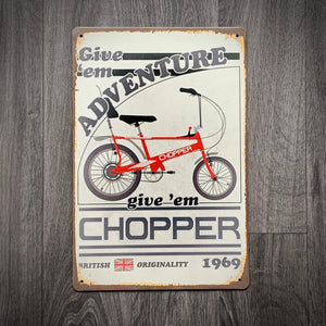 Raleigh Chopper Tin Retro Cycling Sign